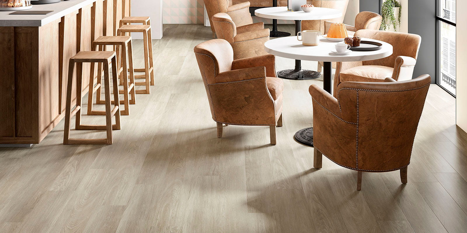 Invictus® Luxury Vinyl Flooring - New England Oak - Dusk - Comm_hospitality