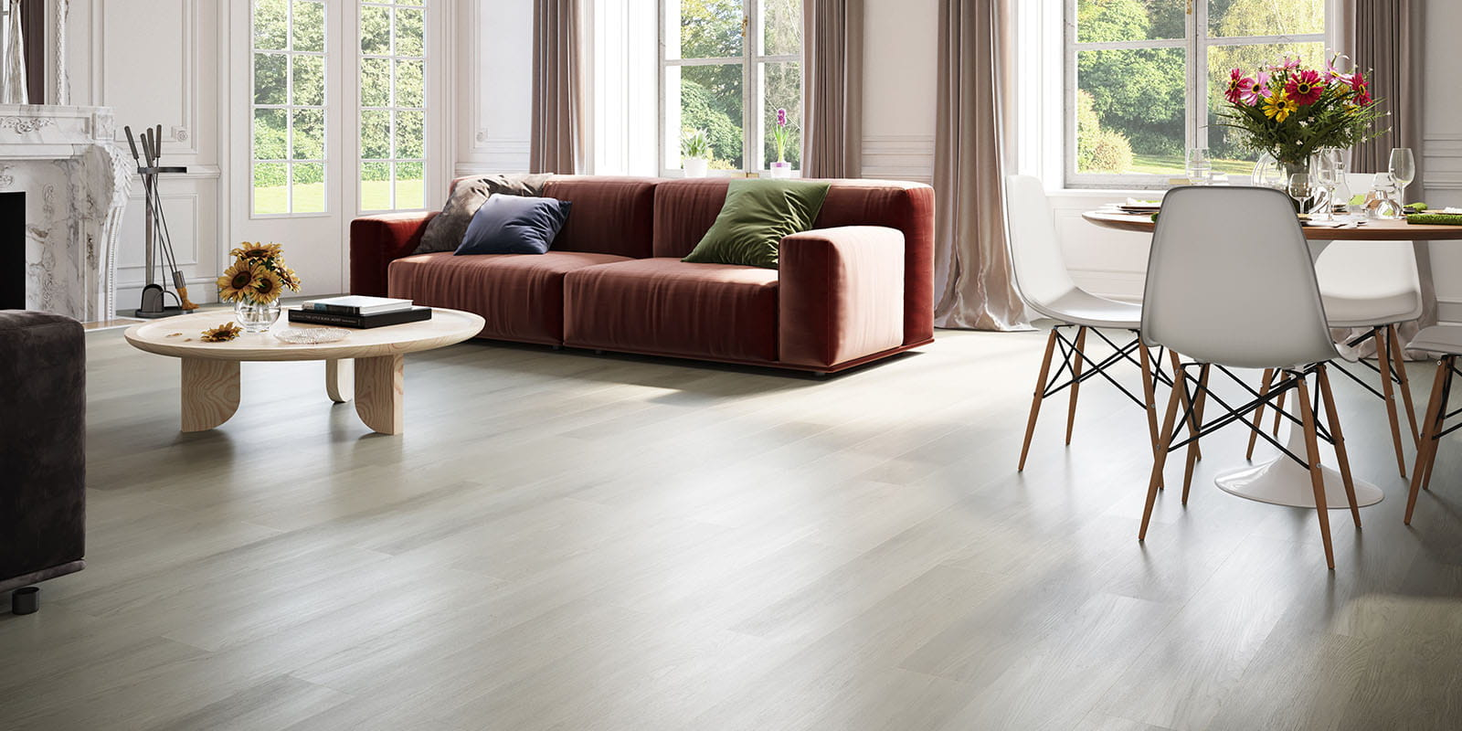 Invictus® Luxury Vinyl Flooring - New England Oak - Misty - Living
